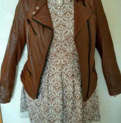 Jachetă de piele pentru femei