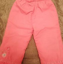 Утеплeнние штани на дівчинку