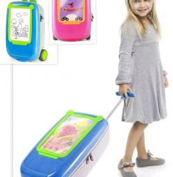 New cute baby suitcase pink and blue