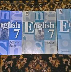 Un manual, o carte pentru citire, un registru de lucru în limba engleză