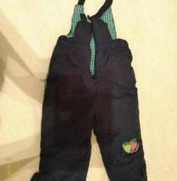 Winter semi-overalls for the girl