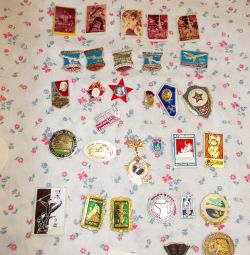 Badges of the USSR: Soviet paraphernalia, planes, etc.