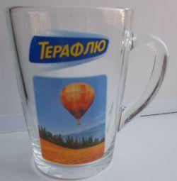 Кружка прозора скляна «Терафлю»
