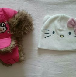 Hats for girls H & M by Hello Kitty