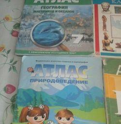 atlases, textbooks