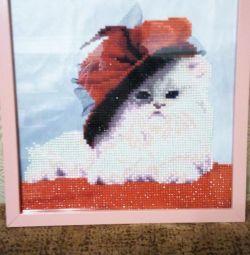 Diamond embroidery.