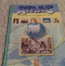 Atlas with a contour map grade 8