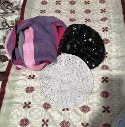 Φουλάρι μαντήλι και 2 κουβέρτες