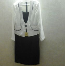 Dress - suit (dress + jacket) r. 56-58