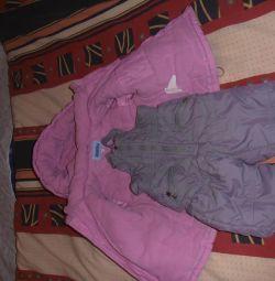 Костюм зимний ( куртка+ полукомбенизон)