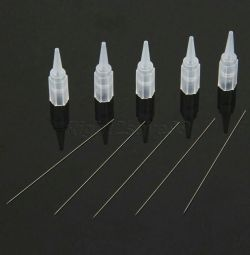 Needles for tattooing + caps 1R, 3R, 5R