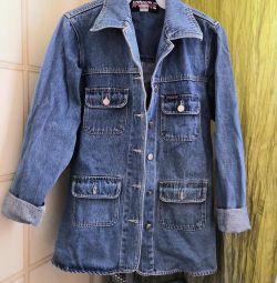 Jachetă lungă Denim