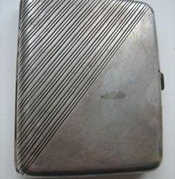 Старинный царский портсигар Серебро 84