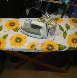 USSR ironing board with iron
