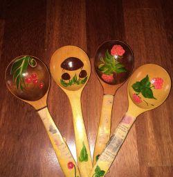 Spoons wooden souvenir