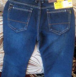 Jeans nou pe fleece