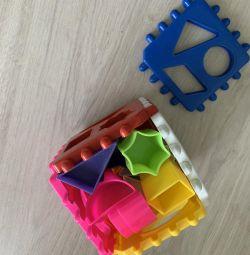 Кубик сортер трансформер мозаика