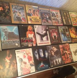 DVD discs movies cartoons clips