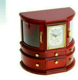 Music box with clock