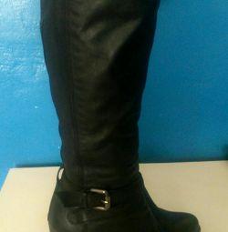 Μπότες από γνήσιο δέρμα