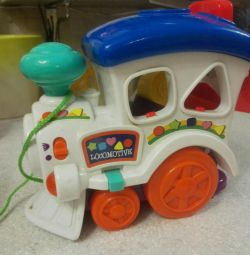 Children's toy steam train