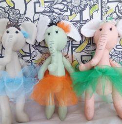 Elephants - ballerinas, handmade