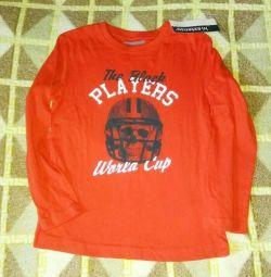 Новая футболка с длинным рукавом р.116