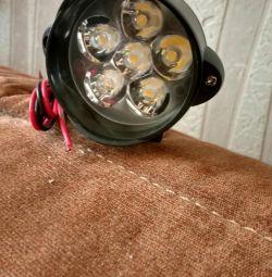 Noul far LED pentru motociclete, biciclete.