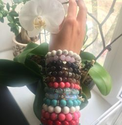 Bracelets made of natural stones