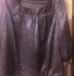 Μπλούζα με σατέν Polka Dot