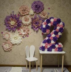 Foto zonă de flori handmade