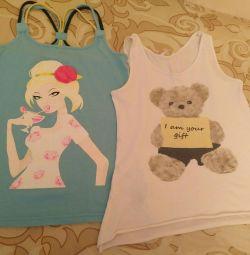 T-shirts για ένα κορίτσι ηλικίας 10-12 ετών