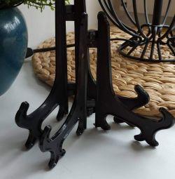 Подстака под декоративную тарелку черного цвета