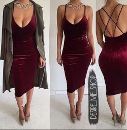 Dress with an open back