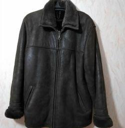 Sheepskin coat for men, natural
