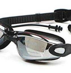 Γυαλιά για κολύμβηση με διοπτρίες -2,5 (νέο)