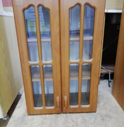 Hinged kitchen cabinets