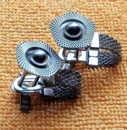Cufflinks Perle metalice USSR 1970