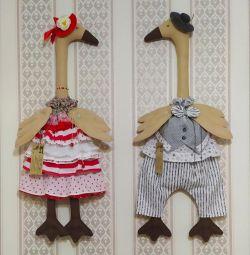 Textile geese, bag-goose