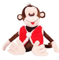 Soft toy monkey in a vest 50cm