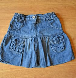 Children's jeans skirt, 105-110 cm