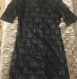 Rochie elegantă din piele