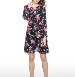 O'stin Midi Knee Dress Floral Print S 44