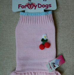 Pink dress with cherries (clothes for dogs)
