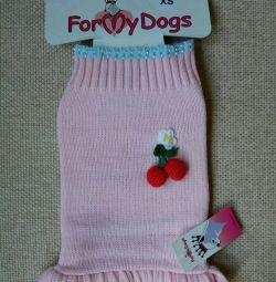 Футболка рожеве з вишеньками (одяг для собак)