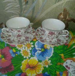 Tableware of tea pair porcelain