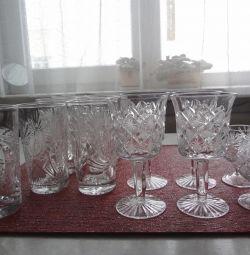 Хрусталь - стаканы, бокалы, рюмки, стопки