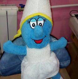 Jucărie moale Smurf