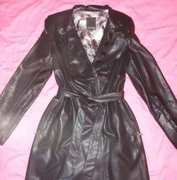 Leather coat new