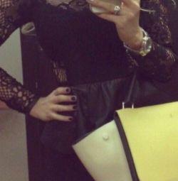 Мереживне плаття Zara шкіра натуральна